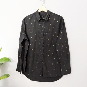 Madewell gold star button up